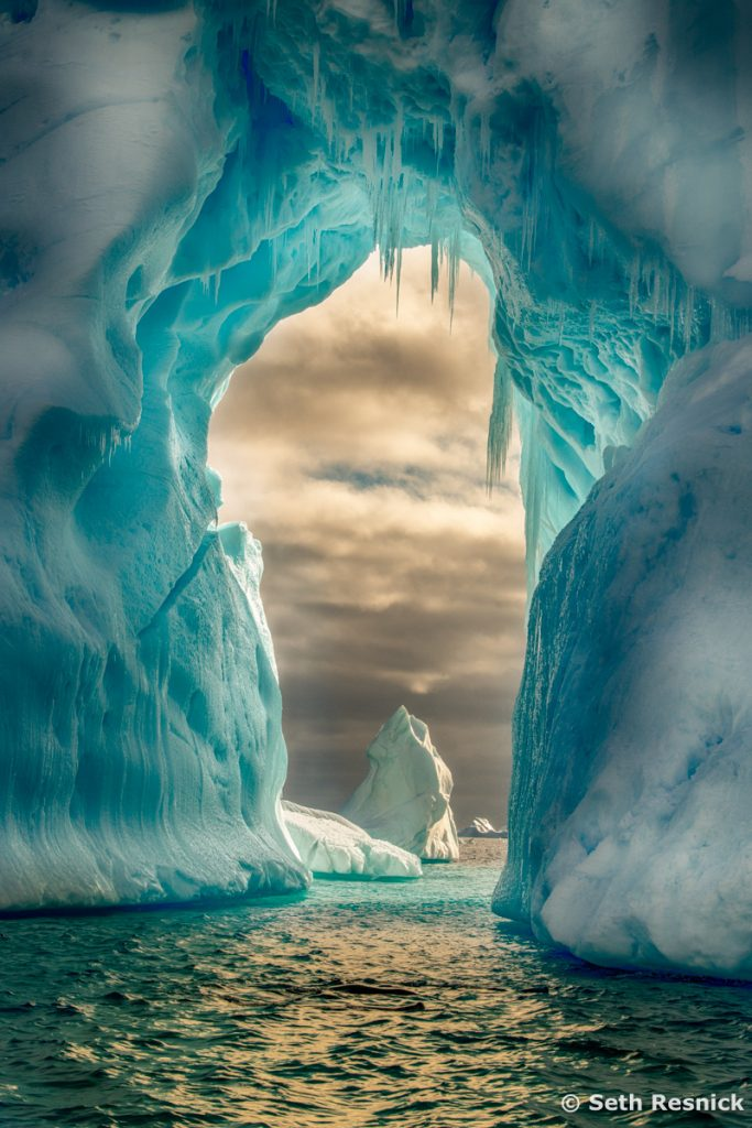 Amazing icebergs in private zodiacs for Digital Photo Destinations photography workshop in Antarctica