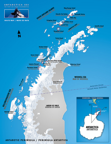 Antarctica Photography Workshop Map